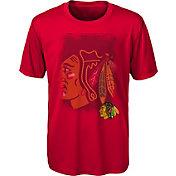 NHL Youth Chicago Blackhawks Logo Matrix Red T-Shirt