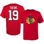 NHL Youth Chicago Blackhawks Jonathan Toews #19 Red T-Shirt