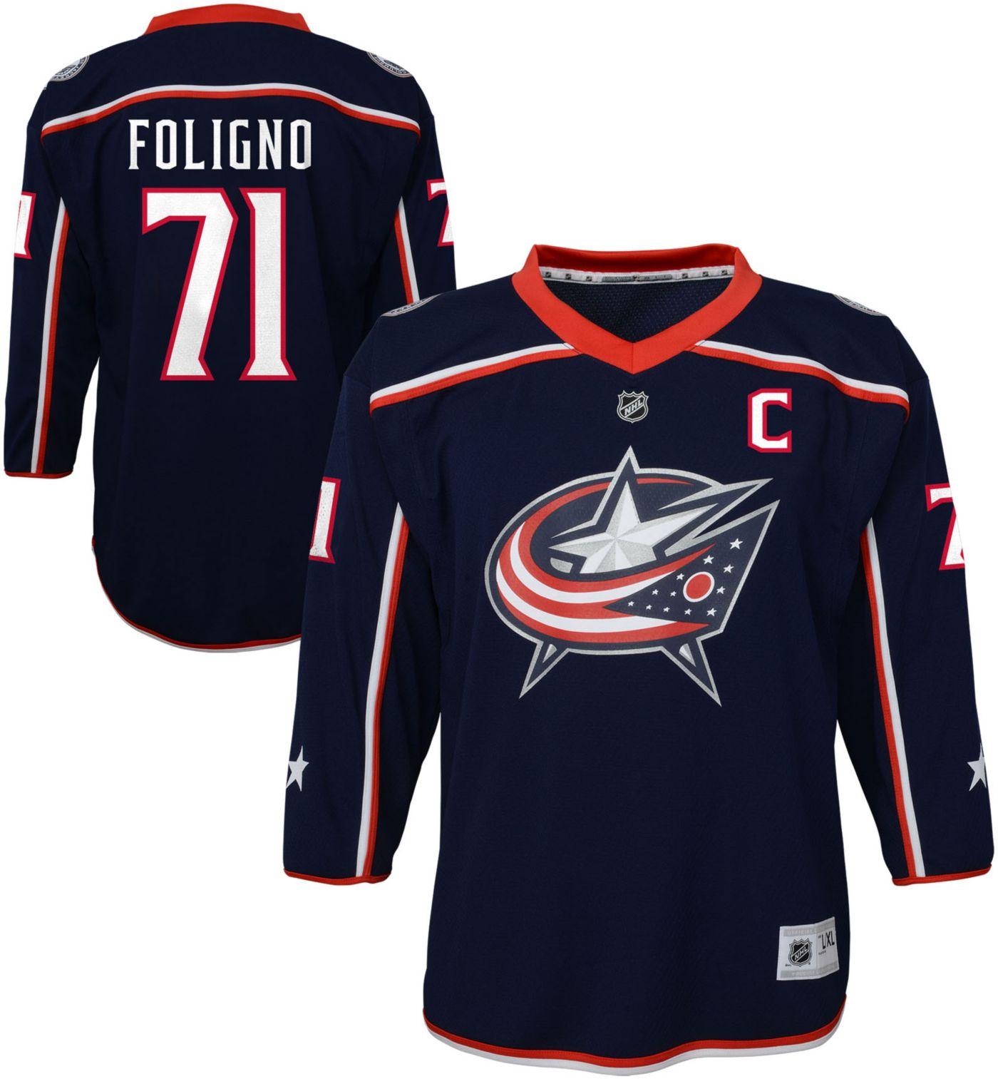 NHL Youth Columbus Blue Jackets Nick Foligno #71 Replica Home Jersey
