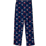 NHL Youth Columbus Blue Jackets Team Logo Navy Sleep Pants