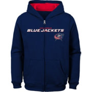 NHL Youth Columbus Blue Jackets Stated Navy Full-Zip Hoodie