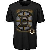 NHL Youth Boston Bruins Logo Matrix Black T-Shirt