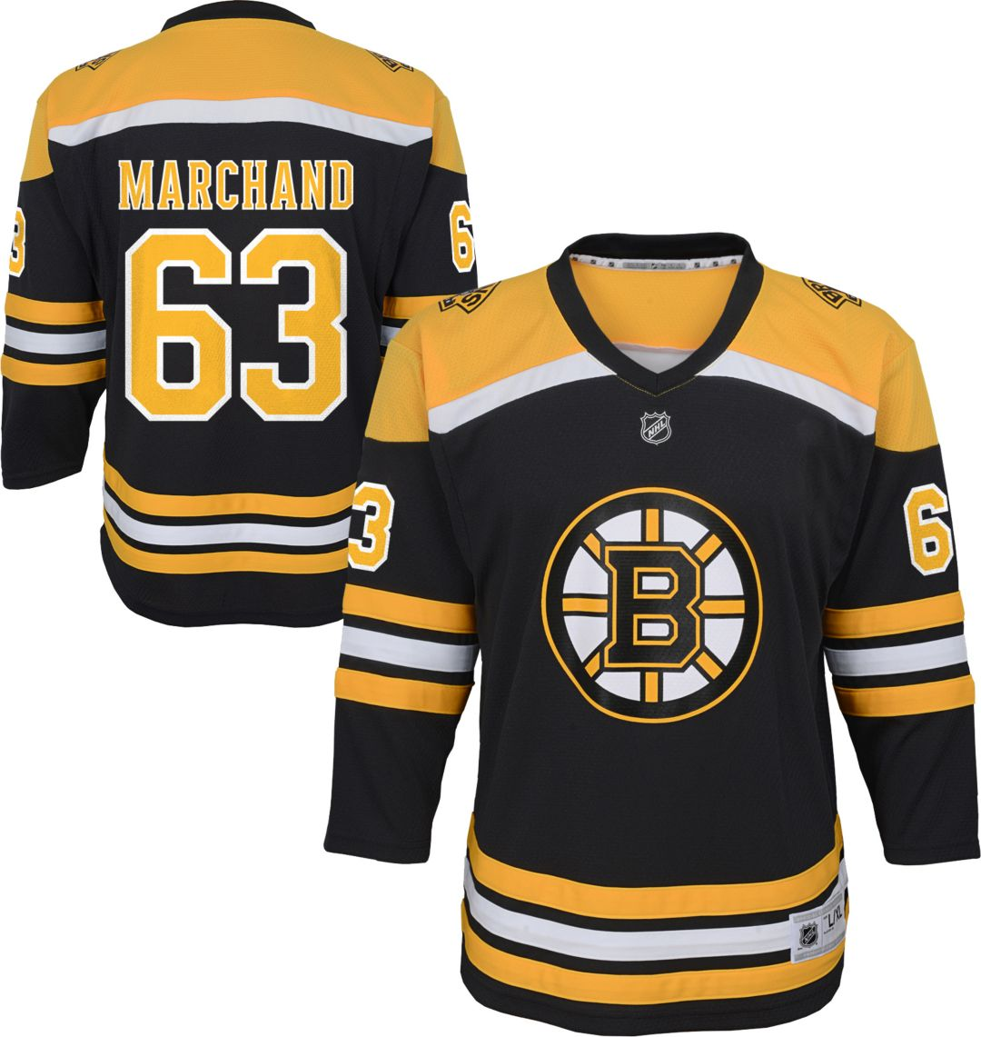 timeless design 532bd 0719f NHL Youth Boston Bruins Brad Marchand #63 Replica Home Jersey