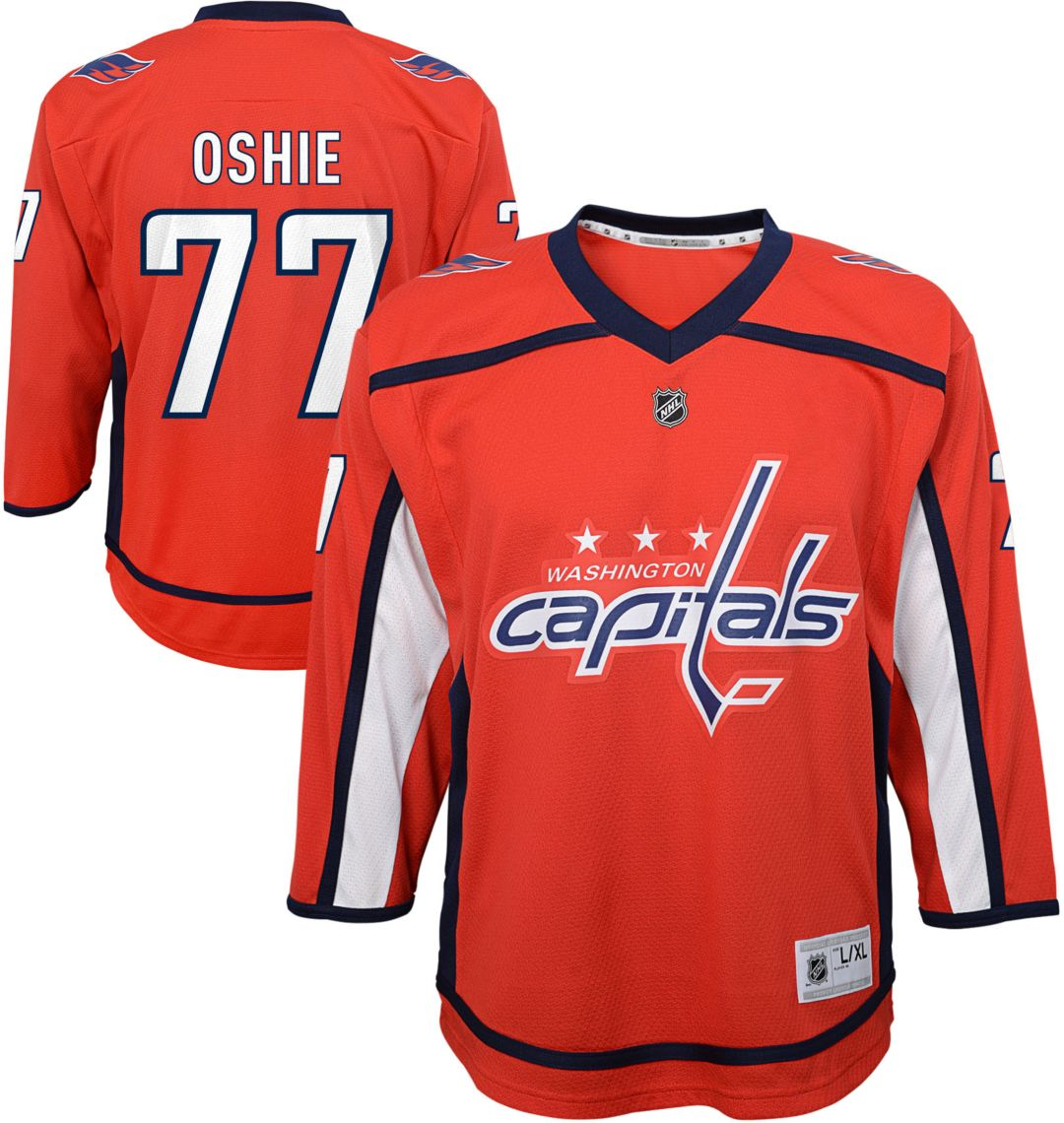 competitive price 54785 2b3da NHL Youth Washington Capitals T.J. Oshie #77 Replica Home Jersey