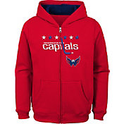 NHL Youth Washington Capitals Stated Red Full-Zip Hoodie