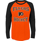 NHL Youth Philadelphia Flyers Morning Skate Orange/Black Raglan Long Sleeve Shirt