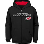 NHL Youth Carolina Hurricanes Stated Black Full-Zip Hoodie