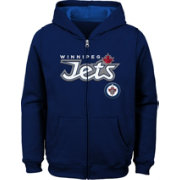 NHL Youth Winnipet Jets Stated Navy Full-Zip Hoodie