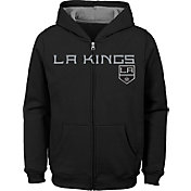 NHL Youth Los Angeles Kings Stated Black Full-Zip Hoodie