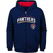 NHL Youth Florida Panthers Stated Navy Full-Zip Hoodie