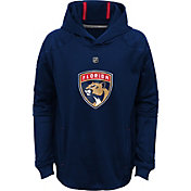NHL Youth Florida Panthers Mach Navy Pullover Hoodie