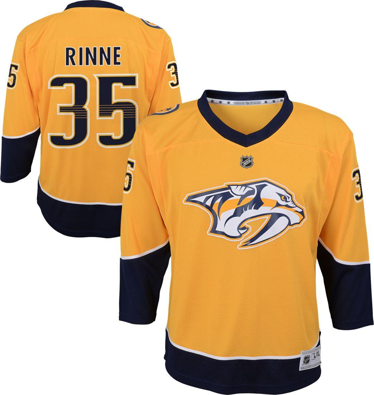super popular a4476 2e629 NHL Youth Nashville Predators Pekka Rinne #35 Replica Home Jersey