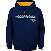 NHL Youth Nashville Predators Stated Navy Full-Zip Hoodie
