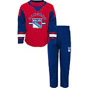 NHL Infant New York Rangers Red/Royal Rink Rat Shirt and Pants Set