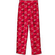 NHL Youth Detroit Red Wings Team Logo Red Sleep Pants