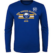 NHL Youth 2018 Winter Classic Buffalo Sabres Stripe Blue Long Sleeve Shirt