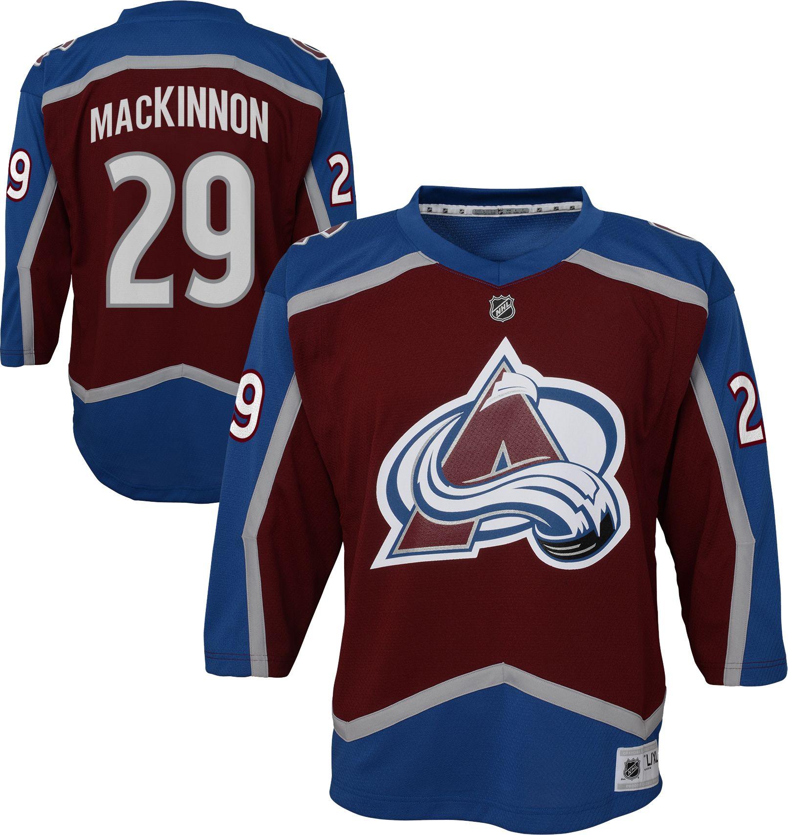 54134e2c5fb ... sale nhl youth colorado avalanche nathan mackinnon 29 replica home  jersey 4d49b 14a0e