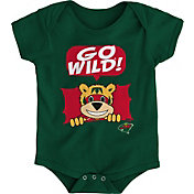 NHL Infant Minnesota Wild Mascot Green Onesie