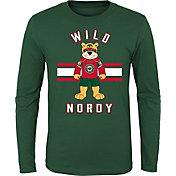 NHL Youth Minnesota Wild Mascot Green Long Sleeve Shirt