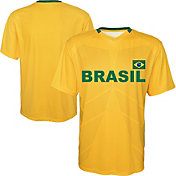 Outerstuff Youth Brazil Replica Jersey Yellow T-Shirt