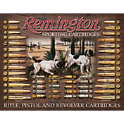 Remington Bullet Board Tin Sign