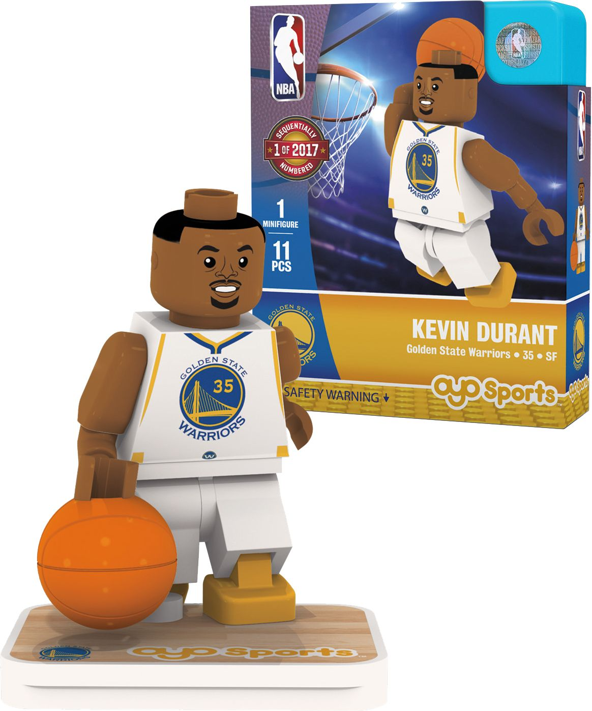 OYO Golden State Warriors Kevin Durant Figurine, Team