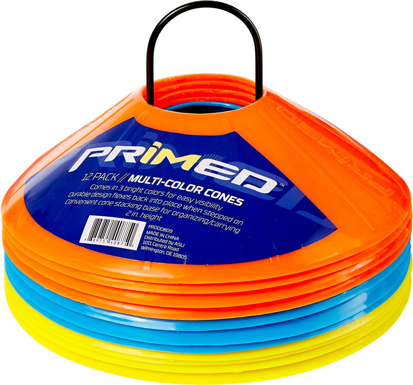 PRIMED 12-Pack Multi-Colored Cones