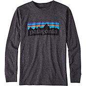 Patagonia Boys' P-6 Logo Long Sleeve T-Shirt