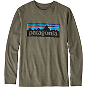 Patagonia Boys' P-6 Logo Long Sleeve T-Shirt