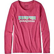 Patagonia Girls' Pastel P-6 Logo Long Sleeve T-Shirt