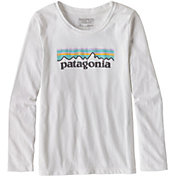 Patagonia Girls' Pastel P-6 Logo Long Sleeve T-Shirt