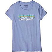Patagonia Girls' Pastel P-6 Logo Organic T-Shirt