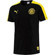 PUMA Men's Borussia Dortmund Black Crest T-Shirt
