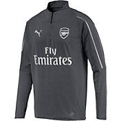 PUMA Men's Arsenal Grey Quarter-Zip Pullover