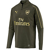 PUMA Men's Arsenal Green Quarter-Zip Pullover