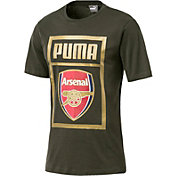PUMA Men's Arsenal Green Crest T-Shirt