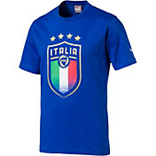 PUMA Men's Italy Crest Blue T-Shirt