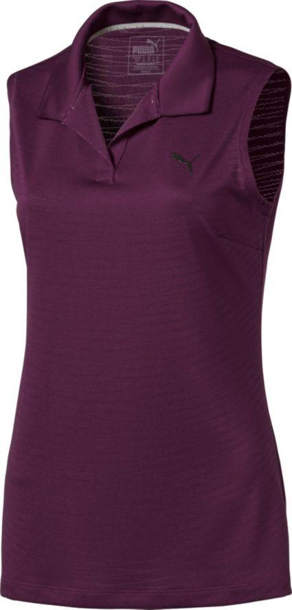 Puma Women's Jacquard Sleeveless Golf Polo