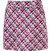 PUMA Women's Plaid Knit Golf Skort