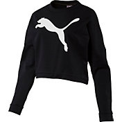 Puma Women's Rebel Crew Cropped Sweatshirt