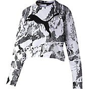 Puma Women's Rebel Crew Cropped Sweatshirt