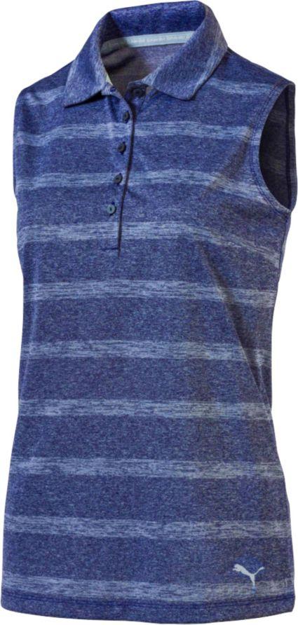 PUMA Women's Pounce Stripe Sleeveless Polo