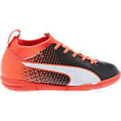 PUMA Kids' evoKNIT FTB Indoor Soccer Shoes