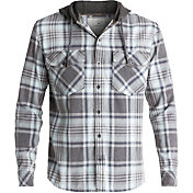 Quiksilver Men's Hooded Tang Acid Flannel Long Sleeve Shirt