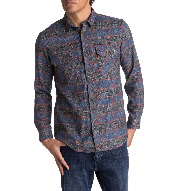 Quiksilver Men's River Back Flannel Long Sleeve Shirt