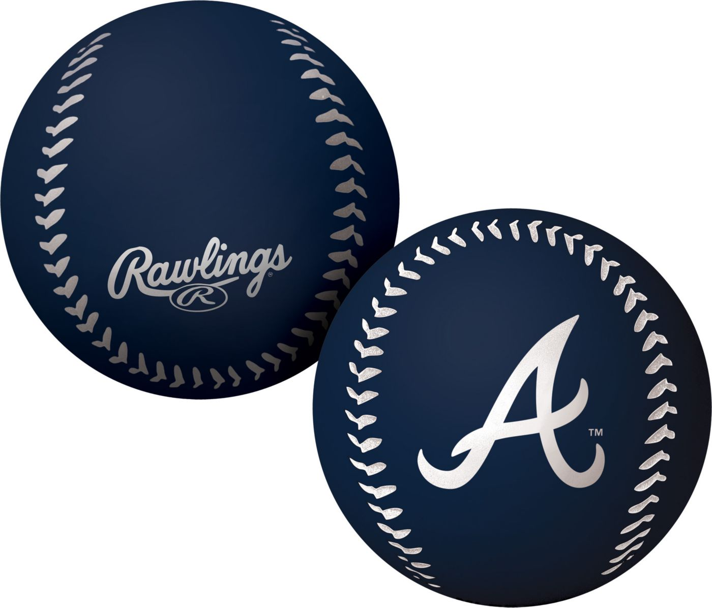 Rawlings Atlanta Braves Big Fly Bouncy Baseball