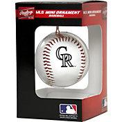 Rawlings Colorado Rockies Baseball Ornament