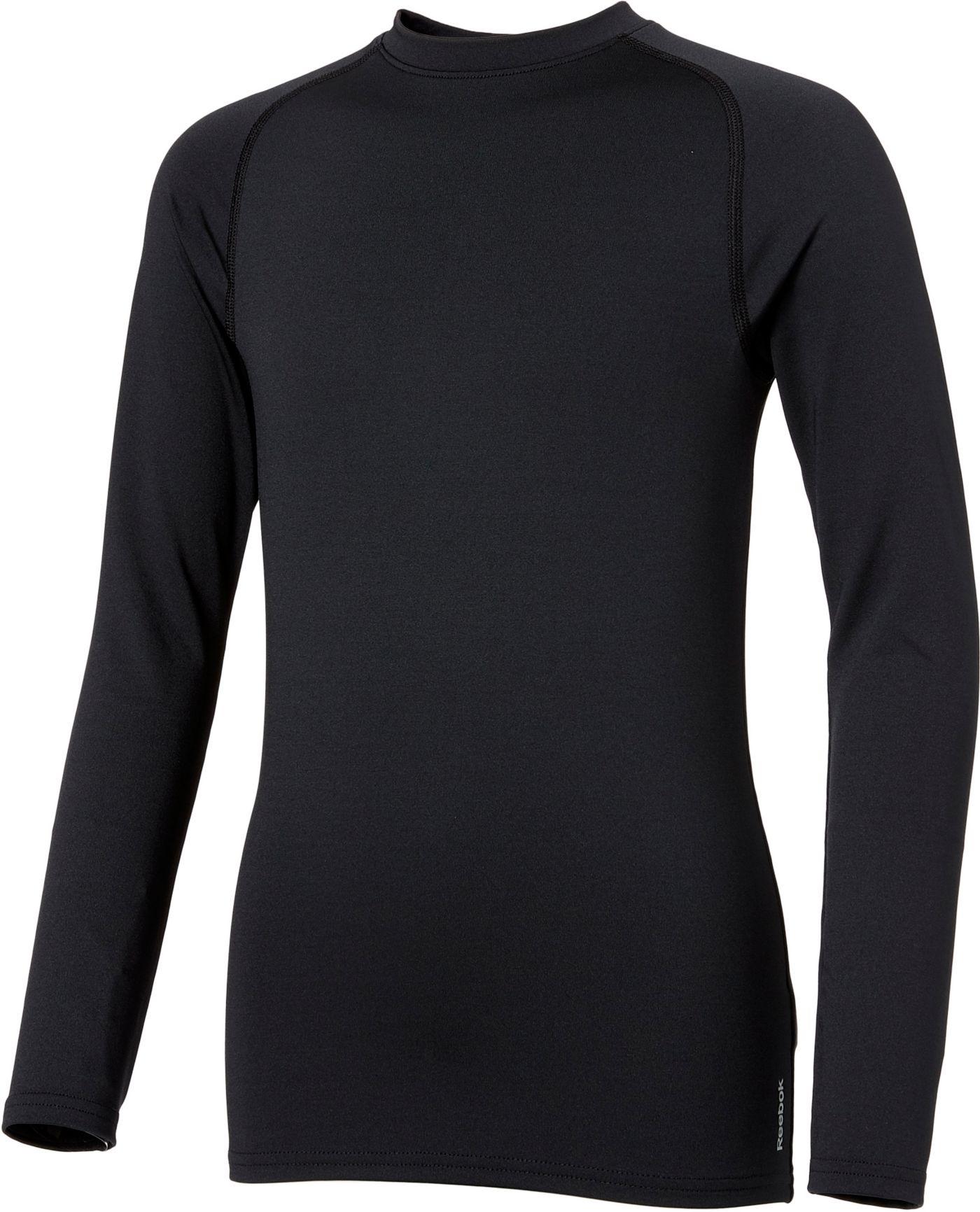 Reebok Boys' Cold Weather Compression Crewneck Long Sleeve Shirt
