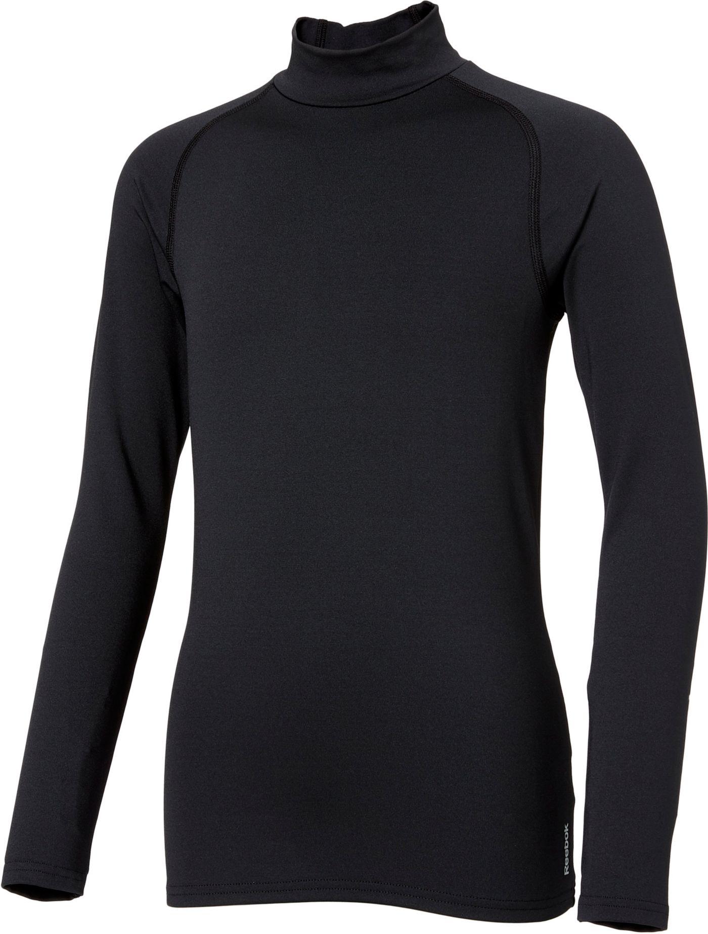 Reebok Boys' Cold Weather Compression Mockneck Long Sleeve Shirt