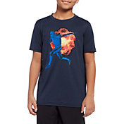 Reebok Boys' Heather Performance Graphic T-Shirt